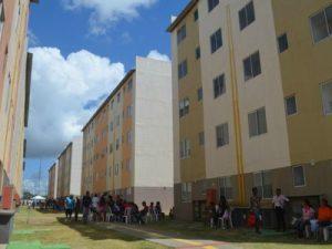 Conjunto habitacional São José Macapá está no faixa 1 (Foto: Abinoan Santiago/G1)